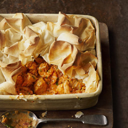 Filo-topped fish pie