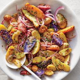 Fingerling Potato Salad with Mustard Vinaigrette