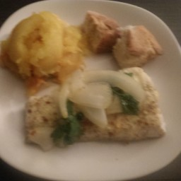 Fish and baked squash