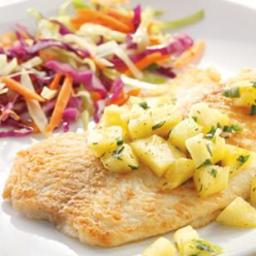 Fish Fillets with Pineapple-Jalapeño Salsa