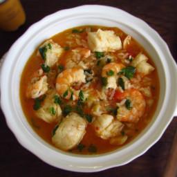 Fish rice with shrimp