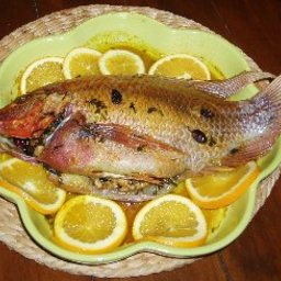 Fish Stuffed with Fresh Herbs (Mahi-Ye Tu Por Ba Sabzi)