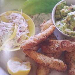 Fish tacos with celeriac remoulade