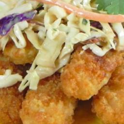 Fish Tacos with Honey-Cumin Cilantro Slaw and Chipotle Mayo Recipe