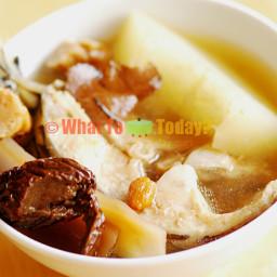 FISH WITH GREEN PAPAYA SOUP (2 servings)