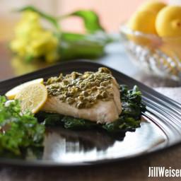 Fish with Lemon Mustard Caper Sauce