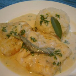 Fish with Sage and Garlic Sauce