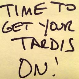 FISH STICKS WITH CUSTARD (TARDIS SAUCE)