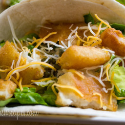 Fish Tacos with Baja Cream Sauce