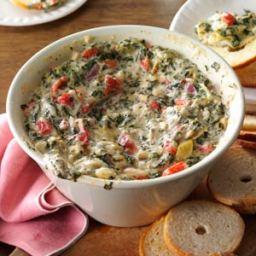 Five-Cheese Spinach and Artichoke Dip Recipe