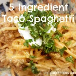 Five-Ingredient Taco Spaghetti