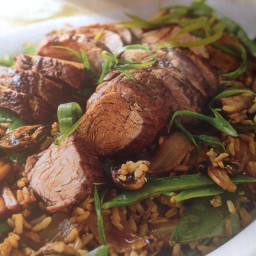 Five spice pork with shiitake rice