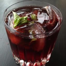 Fizzy Cherry Basil Vodka