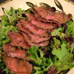 Flank Steak with Arugula