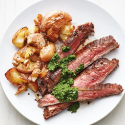 Flank Steak with Smashed Potatoes
