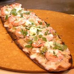 Flatbread with Shrimp and White Bean Hummus