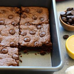Flourless Cashew Butter Brownies