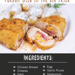 Flourless Chicken Cordon Bleu In The Air Fryer