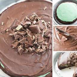 Flourless Chocolate Mint Cake