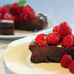 Flourless Chocolate Raspberry Cake Recipe