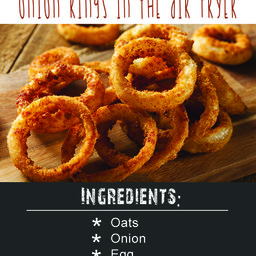 Flourless Crunchy Onion Rings In The Air Fryer