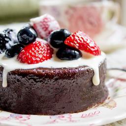 Flourless Mocha Cake with Creme Anglaise