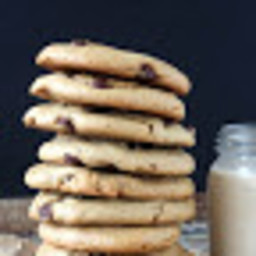 Flourless Peanut Butter Cookies with Dark Chocolate Chips (Gluten-Free and