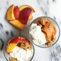 Flourless Stovetop Peach Cobbler for Two (vegan and gluten-free)