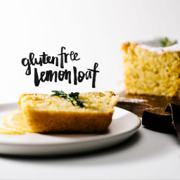 Flourless Meyer Lemon Almond Loaf Cake Recipe