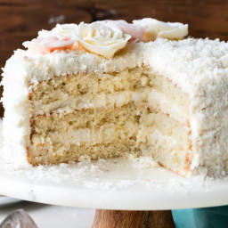Fluffy & Moist Coconut Cake