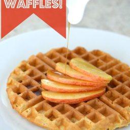 Fluffy Applesauce Waffles
