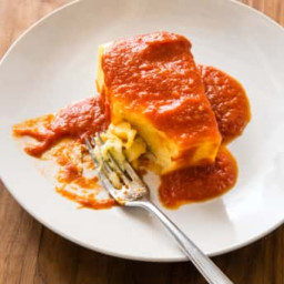 Fluffy Baked Polenta with Red Sauce (Canton VFW)