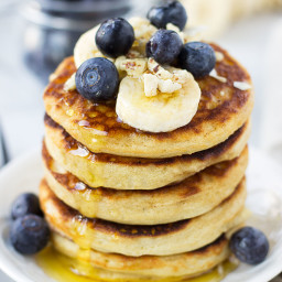 Fluffy Buckwheat and Rice Flour Pancakes