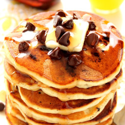 Fluffy Chocolate Chip Pancakes Recipe