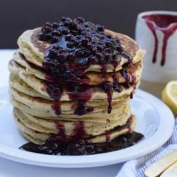 Fluffy Whole Grain Lemon Poppy Seed Ricotta Pancakes Recipe
