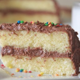 Fluffy, Moist Homemade Yellow Cake Recipe