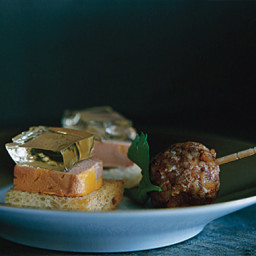 Foie Gras Toasts with Sauternes Gelée