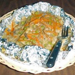 Foil Pack Chicken and Dressing Dinner