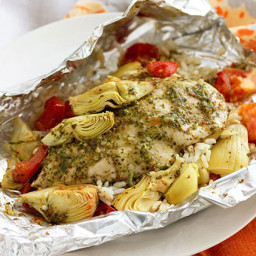 Foil-Pack Chicken & Artichoke Dinner