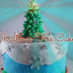 Fondant Christmas Tree Cake