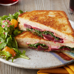 Fontina & Beet Grilled Cheese Sandwiches with Mixed Citrus Salad