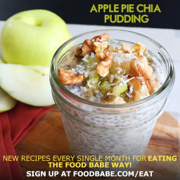 Food Babe's Apple Pie Chia Pudding