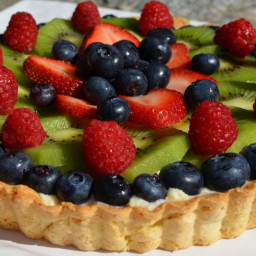 Foodie Friday: Fresh Fruit Tart with Pastry Cream {Gluten, Peanut and Tree-