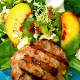 Foodie Friday's: Peachy Turkey Burger over Mixed Greens, Endive, Bacon and