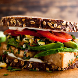 FOOD's Amazing Cilantro Tofu Sandwich