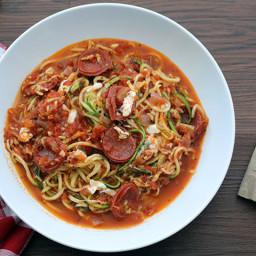 Football Season & Pepperoni Pizza Zucchini Spaghetti