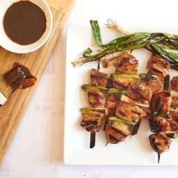 Four-ingredient chicken yakitori