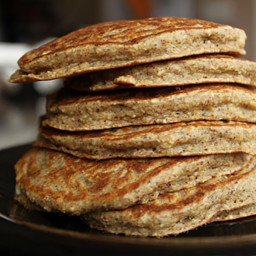 Four Ingredient Oat Flour Pancakes