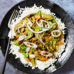 Fragrant Mushroom Curry with Lemongrass, Kaffir Lime and Chilli