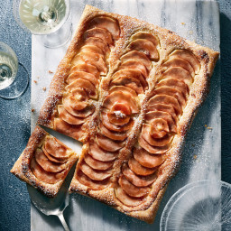 Frangipane Pear Tart with Cherry Jam Glaze
